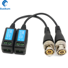 5Pairs/ 10Pairs HD CCTV Camera Video Balun Twisted Pair Transmitter Connecter Video Baluns For 5MP HD-TVI/CVI/AHD Camera water resistant utp twisted pair video balun transceivers w extension cable black pair