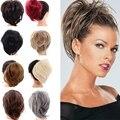 Лупу Для женщин резинка для волос синтетические волосы булочка шиньон Эластичная лента из волос зажим для галстука прямые шиньон-хвост