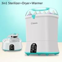 3 In1 Baby Bottle Sterilizer Milk Warmer with Drying Function Baby Bottle Warmer Steam Sterilization Dryer Heater for Bottle Kid