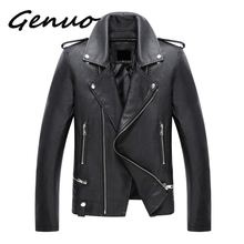 Genuo 2019 New Arrival Leather & Suede Jackets men Motorcycles Fashion Men PU coat male chaqueta cuero hombre