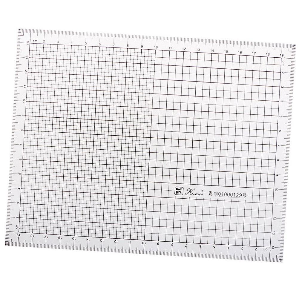 7.9inch Acrylic Coordinate Graph Grid Ruler Scale Hand Drawing Charting Tool