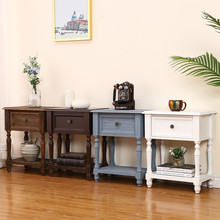 Bedside Cabinet Furniture Storage-Table Bedroom Living-Room Retro-Style Nordic Paulownia