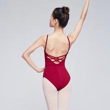 Ballet Leotards for Women Adult Dance Camisole Gymnastics Leotard Ballet Costume Red Black Bodysuit Swimwear Swimsuit Women