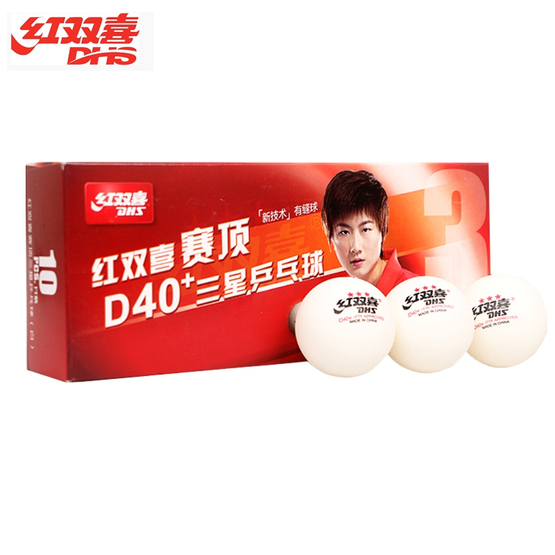 Original 30 Pieces DHS 3-star D40+ Table Tennis Ball New Material ABS Seamed Plastic Ping Pong Ball
