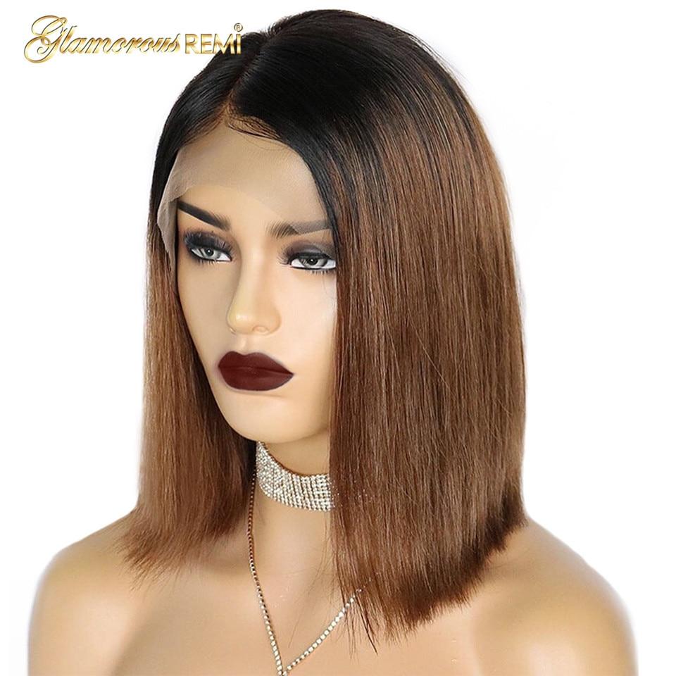 1b 30 lace front human hair wigs bob wig (4)