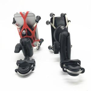 Image 3 - 汎用品質プラスチックオートバイハンドルバーレールマウントx携帯電話スマートフォンホルダーiphone