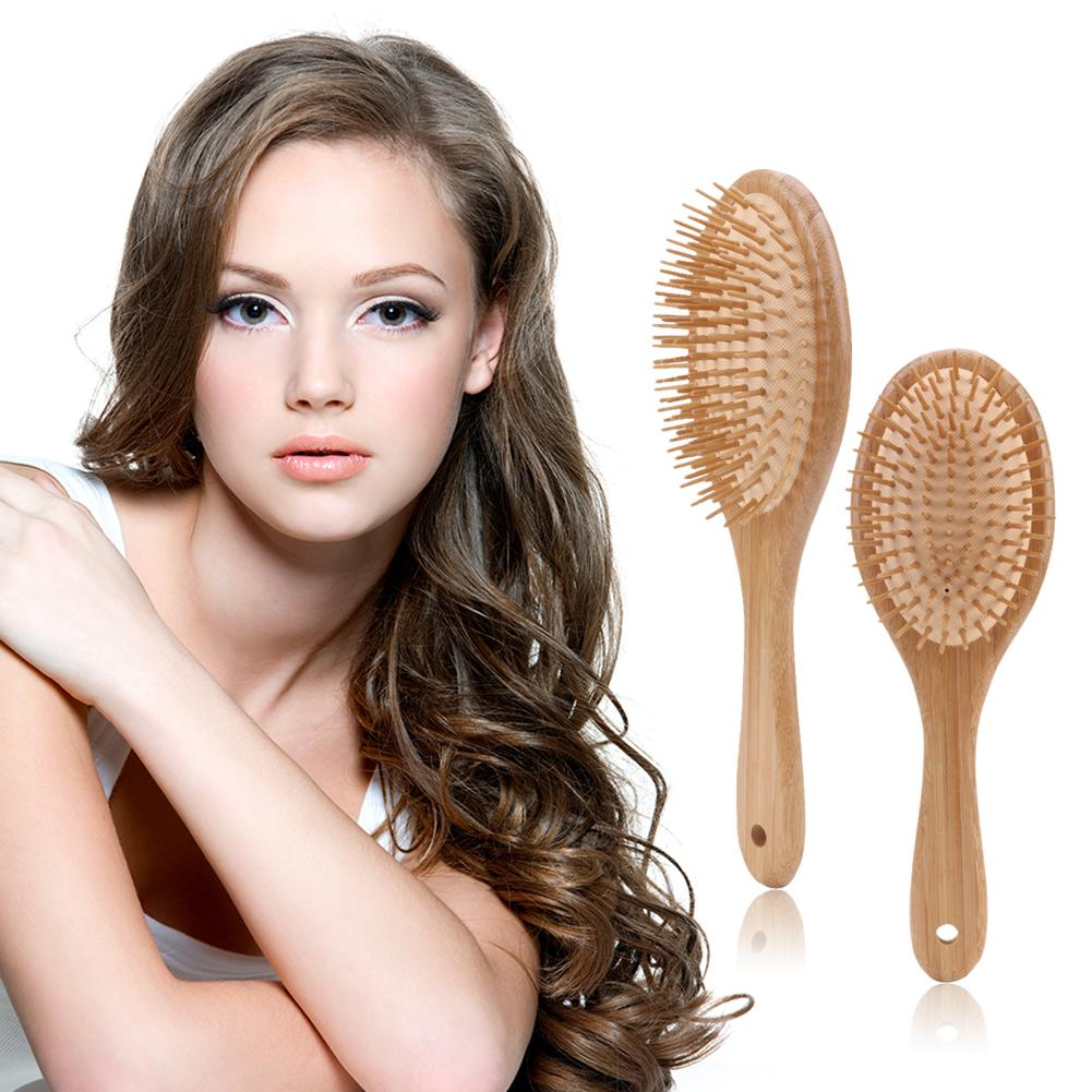 1pc Wooden Bamboo Massage Comb Anti-static Hair Vent Brushes Care Air Cushion Hair Massage Comb Scalp Massage Hairbrush Tools