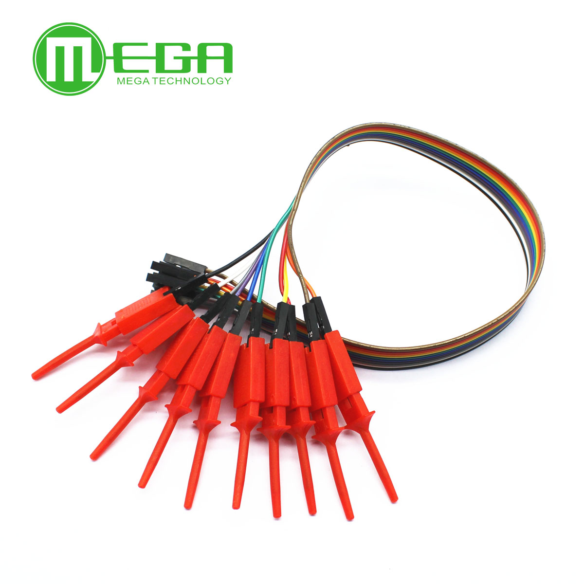 10pcs Quality Test Of The Quality Test Hook Clip Logic Analyzer Test Folder. For USB 24M 8CH