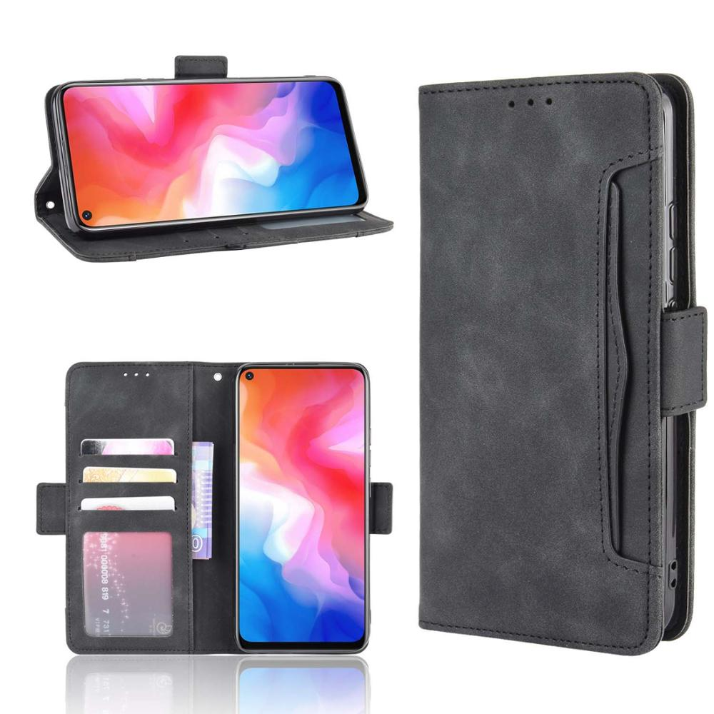 Leather Phone Case For Vivo NEX 3 5G / IQOO 3 / Y50 / Y30 / S1 Pro / Y9s Back Cover Flip Wallet With Stand Retro Coque