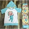 Очаровательный детский комплект одежды для бега унисекс, Повседневная мультяшная детская одежда, наряды 08