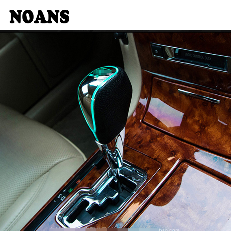 Bingohobby Car Gear Knob Universal Shift Knob Gear Shifter Stick Cover 5 Speed Alluminium Alloy Leather Black