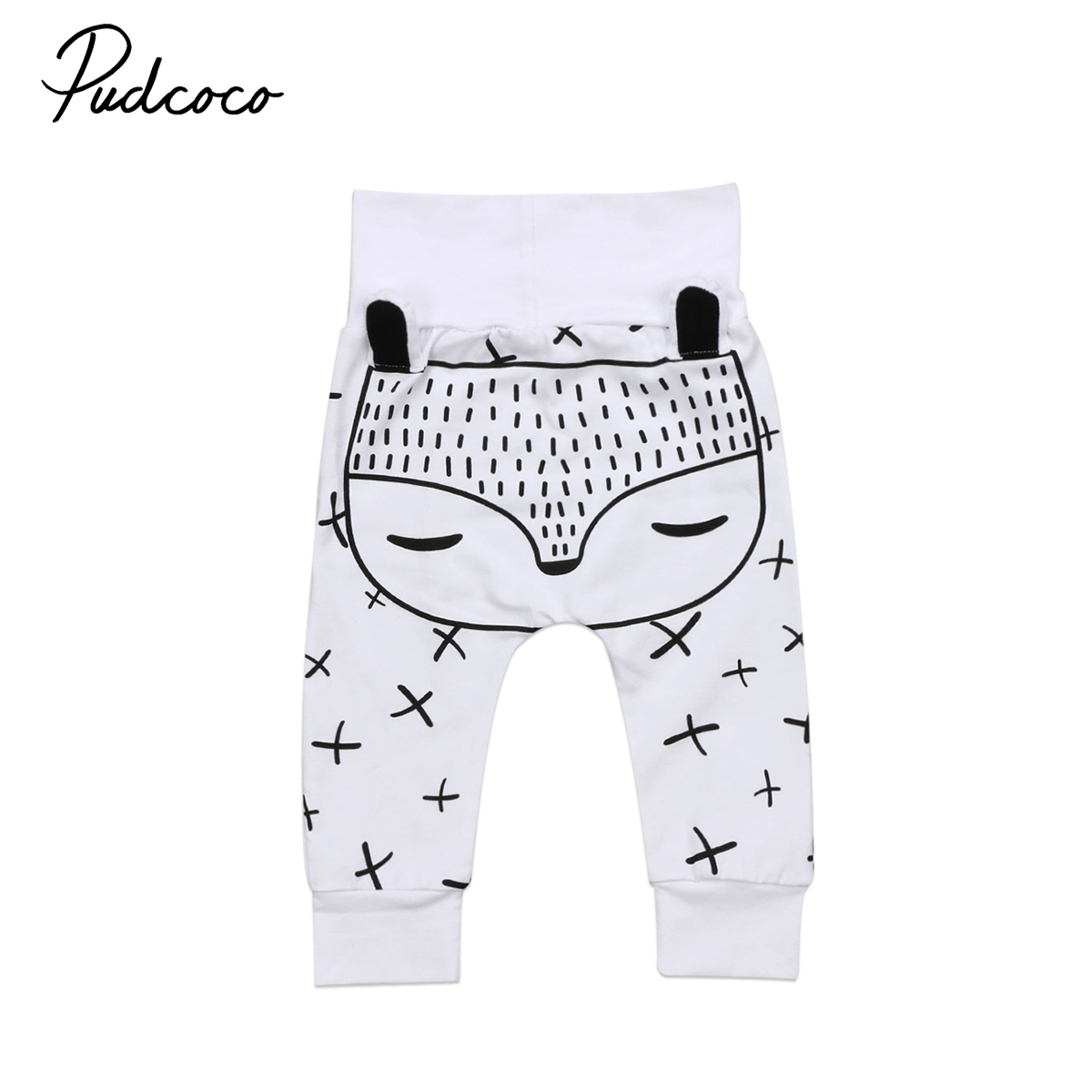 Pudcoco Baby Pants Kids Newborn Baby Boys Girls Long Harem Pants Trousers Leggings Bottoms 0-24M