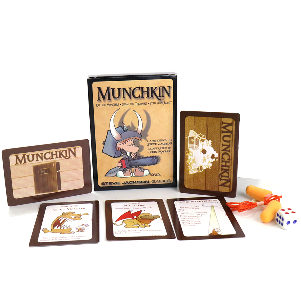 Munchkin Card Game Basic Version Stab Monsters Steal The Treasure For 3-6 Players Family Party Fun Board Games