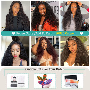 Image 5 - Allove Peruvian Deep Wave Wig 13X4 Lace Front Human Hair Wigs 13X6X1 Lace Part Wig Human Hair Deep Curly Wigs For Black Women