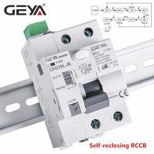 Dispositivo de recarga automática geya 6ka, dispositivo de disjuntor recloser rcd 40a 63a 30ma elcb rccb 2p