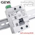 Автоматический выключатель GEYA 6KA ELCB RCCB 2P, автоматическое устройство для перемотки, автоматический выключатель RCD 40A 63А 30мА
