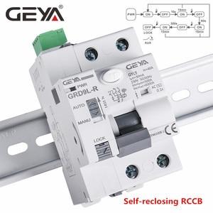 GEYA 6KA ELCB RCCB 2P Automatic Reclosing Device Remote Control Circuit Breaker Recloser RCD 40A 63A 30mA(China)