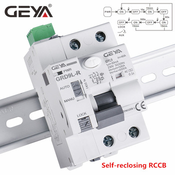 GEYA 6KA ELCB RCCB 2P Automatic Reclosing Device Remote Control Circuit Breaker Recloser RCD 40A 63A 30mA 2p 63a automatic transfer change over mini type both power supply switch device circuit breaker