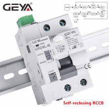 GEYA 6KA ELCB RCCB 2P אוטומטי Reclosing מכשיר שלט רחוק מפסק Recloser RCD 40A 63A 30mA
