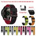 Ремешок для наручных часов Garmin Fenix 6 5, силиконовый быстросъемный браслет для часов Fenix 5X Plus Fenix 6X Pro 935 Mk1, 22 26 мм