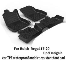 Черный тяжелый напольный коврик buick regal защита багажника