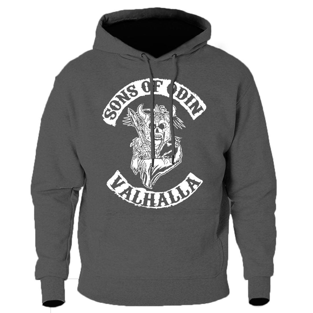 Mens Hooded Hoodies Vikings Sons Of Odin Sweatshirts 2020 Keep Warm Fall Winter Tracksuits Fashion Casual Long Sleeve Hoody Man