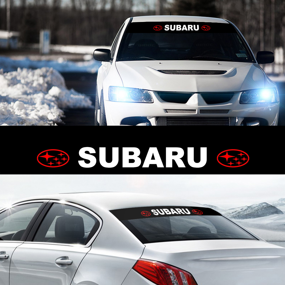 1 шт., Виниловая наклейка на переднее стекло автомобиля, солнцезащитный козырек и ветровое стекло для Subaru Forester Impreza Legacy STI Outback Tribeca BRZ WRX
