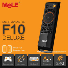 Mele F10 Deluxe Fly Air Maus 2,4 GHz Wireless Tastatur Fernbedienung mit IR Lernen Funktion Für Smart Android Tv box Mini Pc(China)