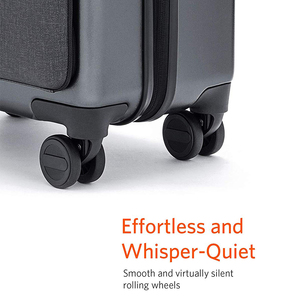 Image 4 - NINETYGO 90FUN לשאת על מזוודות עם ספינר גלגלי 20 אינץ Hardside Hardshell TSA תואם מזוודה מול כיס נעילת כיסוי