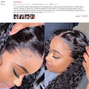 Image 3 - 360 Lace Frontal Wigs Curly Human Hair Wigs HD Transparent Lace Frontal Wigs Pre Plucked Bleached Knots Wigs For Black Women