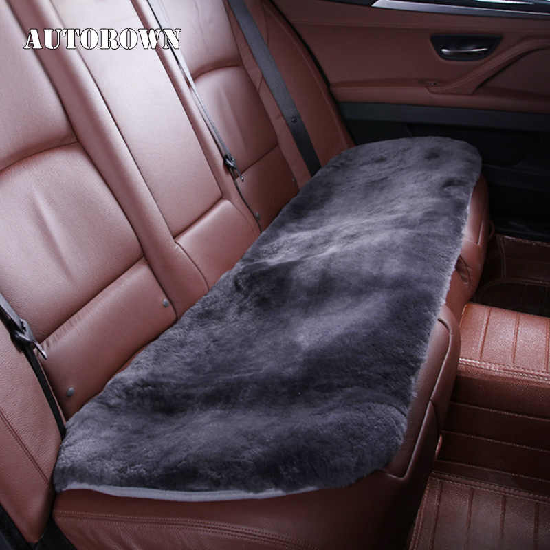 AUTOROWN פו פרווה כרית מושב מכונית עבור טויוטה לקסוס Kia יונדאי ניסן אוניברסלי רכב מושב מכסה רכב אביזרי פנים