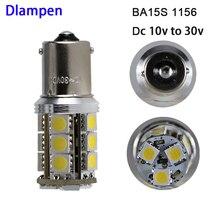 цена на S25 1156 BA15S 12V 24v Turn Signal Bulb Canbus No Error Led Bulbs for RV Camper Tail Turn Blinker Indicator Lights 4W lamp