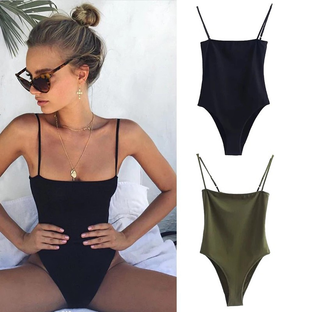 Women Sexy Bodysuit Solid Sleeveless Skinny Body Mujer Plus Size Backless Camis Slim Bodysuits Female Basic Bottoming Rompers