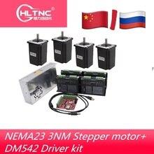 Router di CNC kit elettronico 4pcs DM542 driver + 4pcs NEMA23 425ozin motore di CC + 350W36V di alimentazione + 4 assi mach3 motion carta