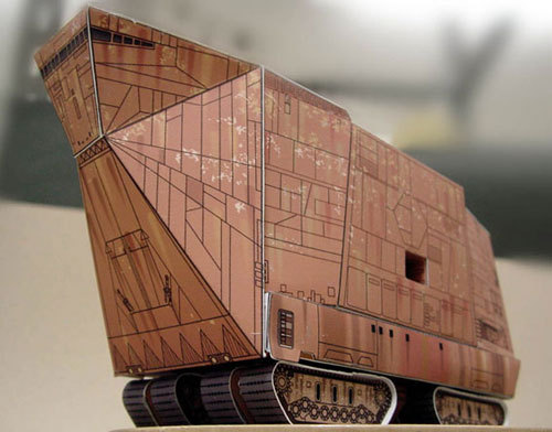 Paper Model Star Wars Crown Deals SANDCRAWLER Paper Craft DIY Handmade Toy