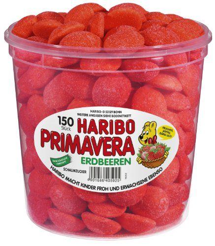 Haribo Primavera Strawberries, 150 Pieces, 1050g Tub