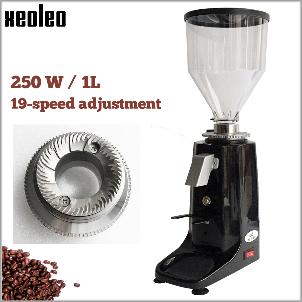 XEOLEO Professional Turkish Coffee Grinder Aluminum Electric Coffee Miller 250W Espresso Coffee Milling Machine Black/Red