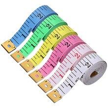 1,5 м Рулетка для измерения размеров тела швейная портновская рулетка Мини мягкая плоская линейка сантиметр швейная измерительная лента случайный цвет