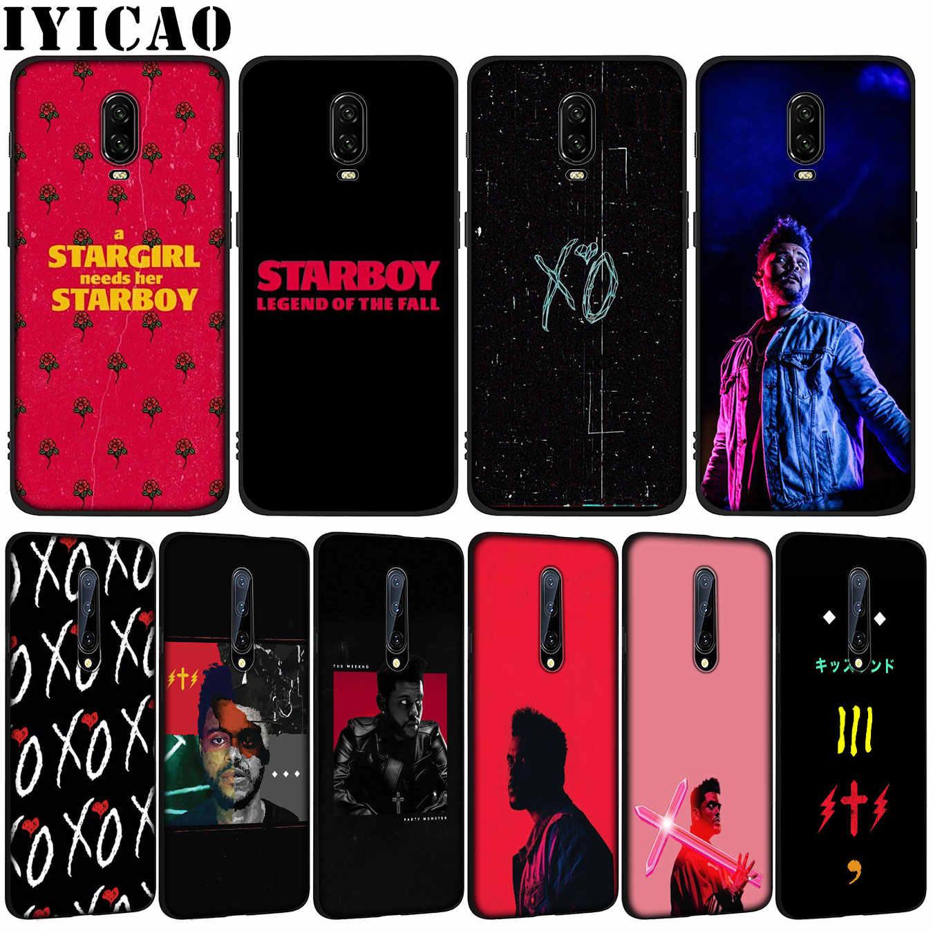 Funda de teléfono de silicona negra de TPU suave rapero Weeknd para OnePlus 7T 7 Pro 6 6T 5 5T One Plus 7Pro