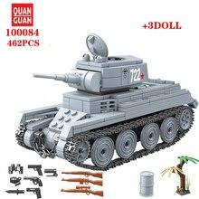 WW2 Military BT-7 Soviet Union Light Tank Soldier Weapon Building Blocks Military Tank weapon accessory Bricks Toys For Children printio soviet tank