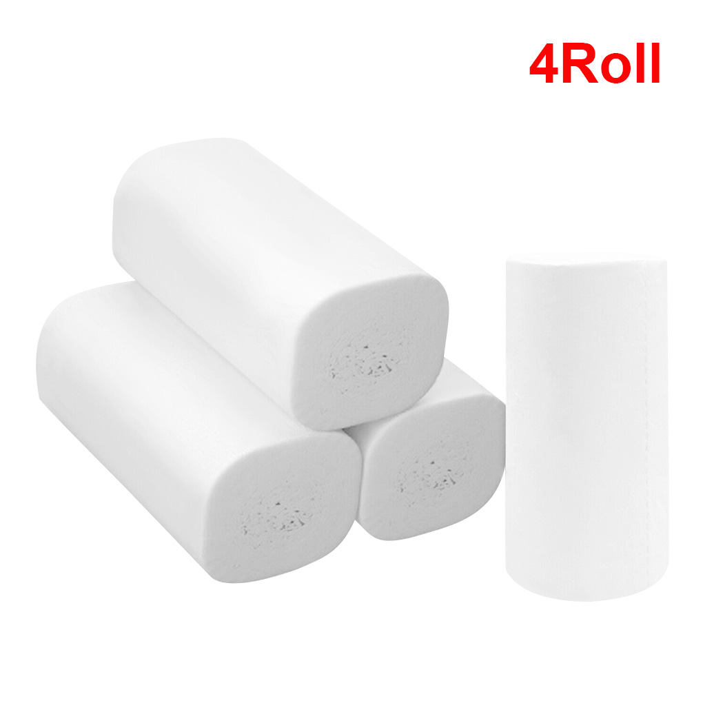 NEW White Toilet Paper Toilet Roll Tissue Roll Pack Of 4 3Ply Paper Towels Tissue Household Toilet Paper Toilet Tissue Paper