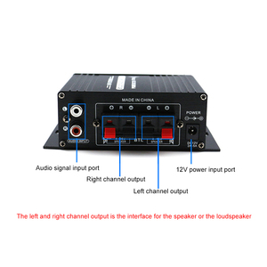 Image 3 - AK170 12V Mini Audio Power Amplifier Digital Audio Receiver AMP Dual Channel 20W+20W Bass Treble Volume Control for Car Home Use
