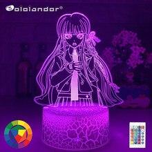 Lampe Led 3D à l'effigie des personnages du dessin animé, Danganronpa, Kirigiri, Kyouko, luminaire décoratif d'intérieur, idéal pour la chambre à coucher