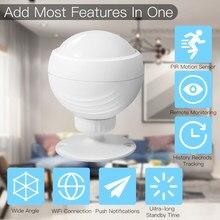 Capteur de mouvement PIR intelligent, wi-fi, compatible avec l'application tuya/Smart life, Alexa et Google Home, pour domotique