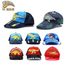 Dinoskulls Dinosaur Children Caps Hat T-rex for Boys Baseball Cap Kids Summer Sun Hat Anti-UV Sunscreen Outdoor Travel Hat 2-8Y