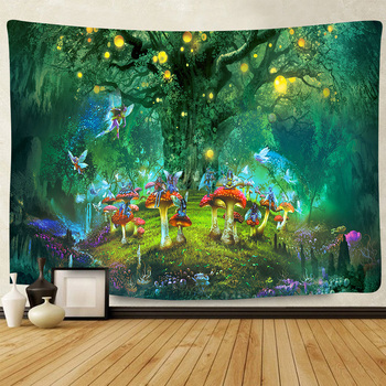 Simsant Psychedelic Shrooms Tapestry Colorful Abstract Trippy Tapestry Wall Hanging Tapestries for Home Dorm Fantasy Decor 9