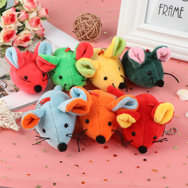 Cute 1pcs Rat Year Mascot Plush Toy Mouse Pendant Decor Accessories Kid Gifts Stuffed Plush Toys for Baby Kids Children