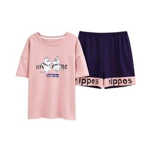 Женский пижамный комплект BZEL, летний пижамный комплект с топом и шортами, женская повседневная одежда для сна, пижамные комплекты, пижама Feminino