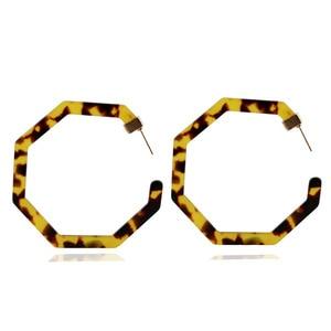 Новые леопардовые длинные висячие серьги для женщин черепаховый ацетат Смола акриловая Капля воды круглая серьга геометрической формы ювелирные изделия