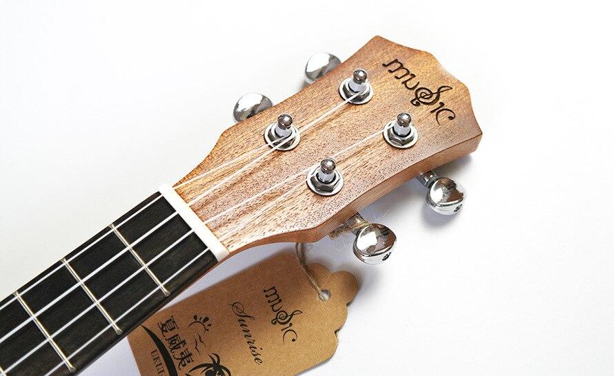 SevenAngel Concert acoustique ukulélé 23 pouces épicéa hawaïen guitare électrique Ukelele papillon amour fleur motif avec pick-up EQ - 2
